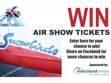 Win passes to the CFB Borden air show