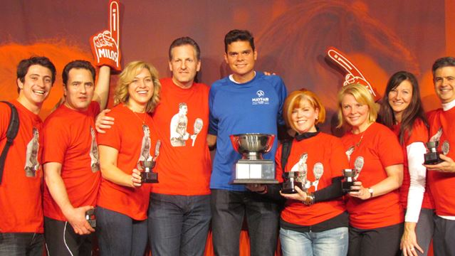 Winning Raonic Race for Kids team