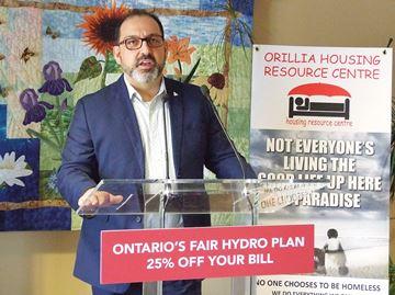 Energy minister visits Orillia