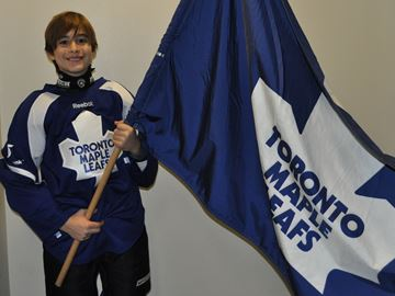 Skating with Toronto Maple Leafs a thrill for Oakville youngster