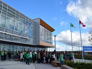 Ecole Paul-Desmarais students celebrate Franco-Ontarian Day