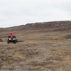 Tom Mulcair drives ATV during Iqaluit campaign stop