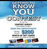 Getting To Know You Contest