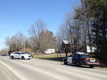 Crime scene on Shannonville Road