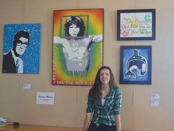 Shawna Munns is having her artwork featured at the Orangeville Theatre until July 28.