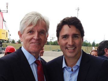 Trudeau with Trant