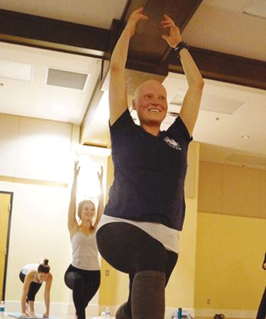 Firefighters get into yoga for health and wellness challenge