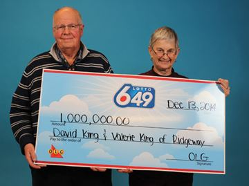 Ridgeway couple wins $1-million lotto prize