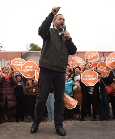 Mulcair in Waterloo