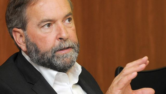NDP Leader Thomas Mulcair visits Oshawa