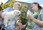 Special outdoor service with pet blessing