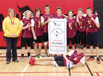 Junior boys volleyball champs