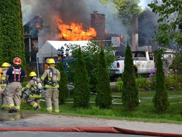Mapleview Drive fire