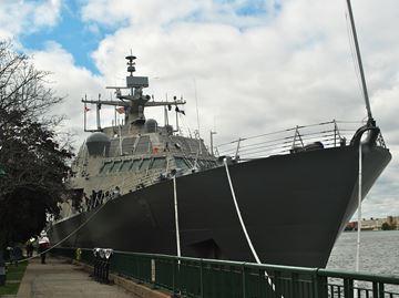 USS Detroit docks in Windsor