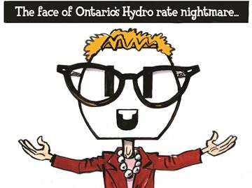 Today's cartoon: Face of Hydro's Rate Nightmare