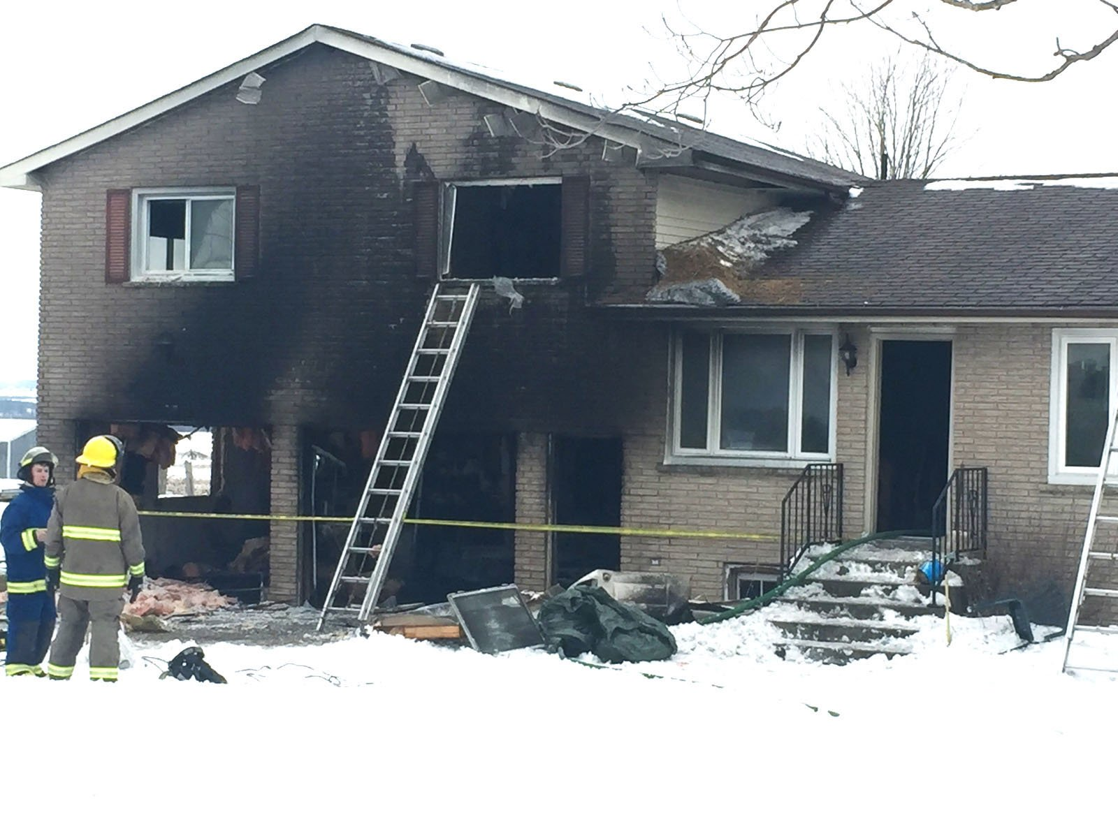 A home damaged by fire