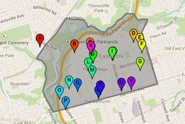 Ward 29 Toronto-Danforth voting locations