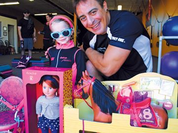 Cheetah printed gifts get little girl's thumbs-up