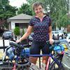Jess bikes Canada