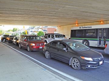 Left turn bans on southbound Geneva Street at QEW on hold
