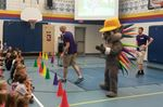 Pachi the Pam Am mascot hits Collingwood