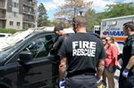 Four-month-old twins rescued after being locked in van in Burlington