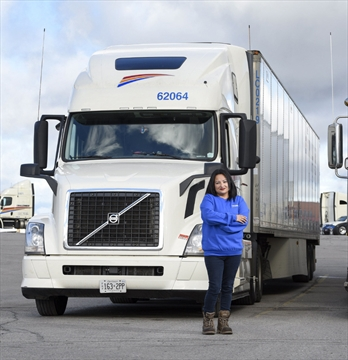 Female Truck Driver Loves Her Life On The Road