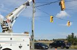 Traffic lights impacted into Tuesday evening