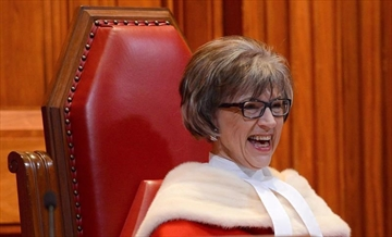 Supreme Court Judge Beverley McLachlin takes part in the welcoming ceremony for Justice Richard Wagner at the Supreme Court of Canada in Ottawa on Monday, December 3, 2012. Chief Justice McLachlin fought back tears as she said goodbye after more than a quarter century on Canada's highest court.THE CANADIAN PRESS/Sean Kilpatrick