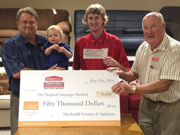 Macdonald's Furniture donates to Meaford Hospital Foundation