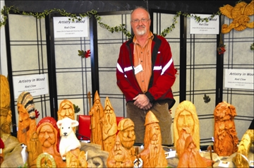 Rod Clow of Artistry in Wood is seen here during the Thousand Islands Arts Art Show and Sale. The event took place recently featuring 25 artists (including 13 new artists), in Rockport and along the Thousand Islands Parkway.