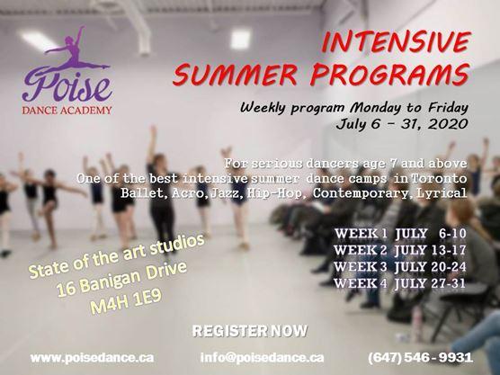 Intensive Summer Program On July 31 2020 Toronto Com