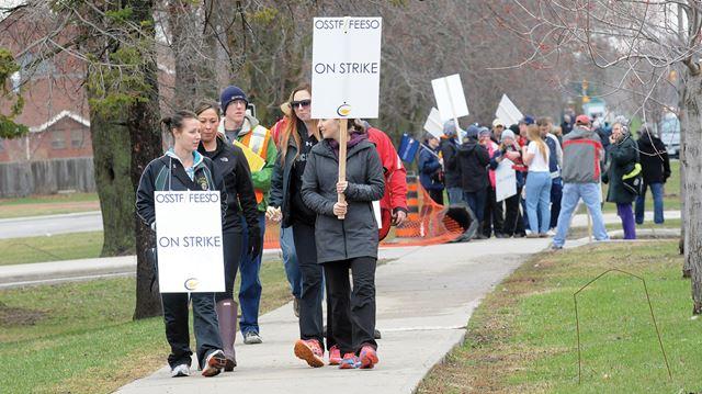High school strike in Durham