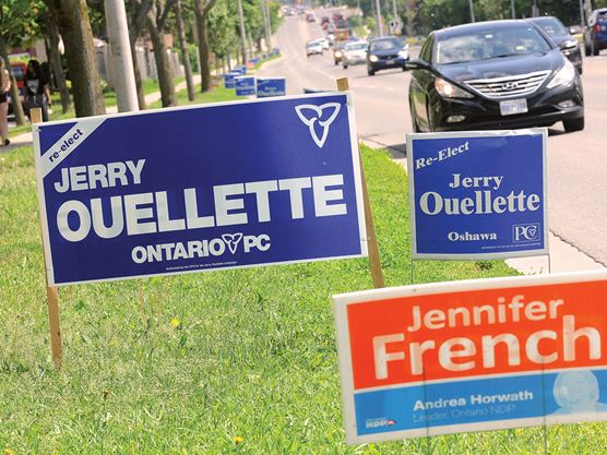Sign, sign, not everywhere a sign: Election candidates reminded of bylaw