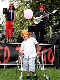 Rockin' to fundraising music
