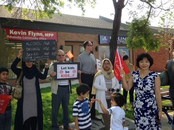 Day of Action protest over new sex-ed curriculum comes to Oakville