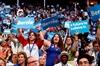 Noisy minority walks out on Clinton-Image1