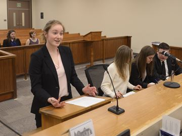 Student 'lawyers' to state their case in mock trials