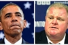 BARACK OBAMA AND ROB FORD