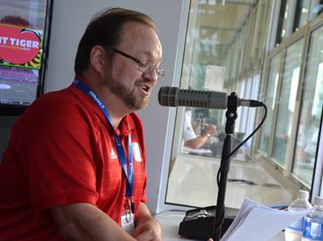 Ottawa Fury stadium announcer Michael Pearson