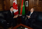 Trudeau with Aga Khan