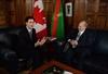 Trudeau with Aga Khan