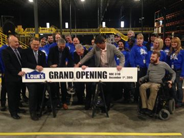 Lowe's celebrates opening of new regional distribution centre in Milton