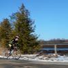 Ballantrae cyclist