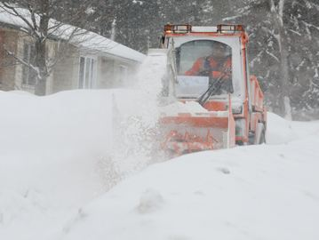 Sidewalk plow in Barrie