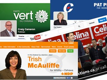 Whitby-Oshawa candidates take to social media