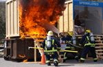 Crash and burn at Deerhurst: