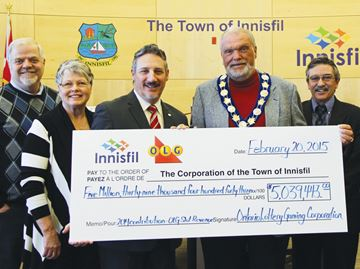 Innisfil continues to hit jackpot with OLG revenues