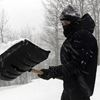 Snow shovelling warning signs