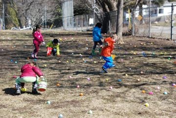 Hundreds of Huntsville kids scurried about town to find thousands of Easter eggs at Huntsville Public School and Muskoka Heritage Place. The Muskoka Community Church and The Nutty Chocolatier sponsored the events.